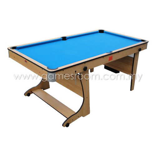 Bce 6ft rolling folding pool table with table tennis desktop - Pool table table tennis ...