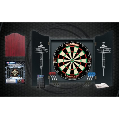 Winmau Professional Dart Set with Diamond Plus Dartboard