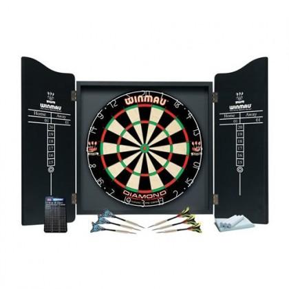 Winmau Professional Dart Set with Diamond Plus Dartboard