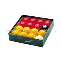 Aramith Premier Red and Yellow Ball Set - 2in