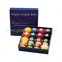 Super Aramith Pro Spot & Stripes Pool Ball Set - 2 1/4in