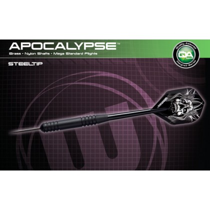 Winmau Apocalypse Black Brass Steel Tip Dart