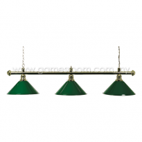 3 Way Lamp Shade (Green-Brass)