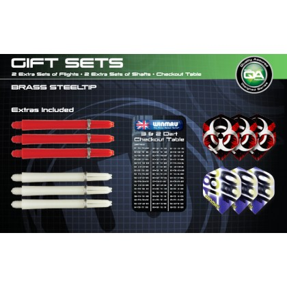 Winmau Deluxe Brass Steel Tip Darts Gift Set - 22g