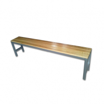 5ft Wooden Bench with Steel Frame