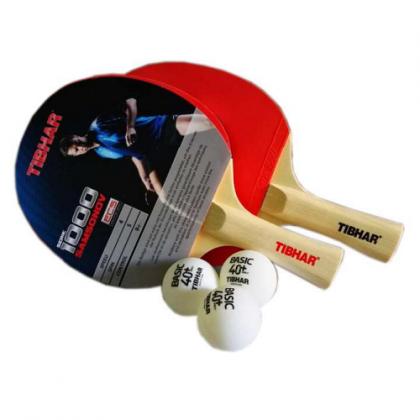 Tibhar Serie 1000 Samsonov Table Tennis Bat with Ball