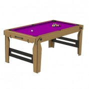 BCE 6ft Rolling Lay Flat Pool Table