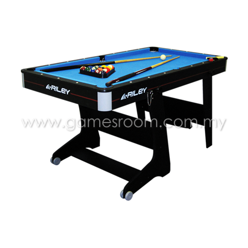 Riley Ft Rolling Folding Pool Table - Rolling pool table